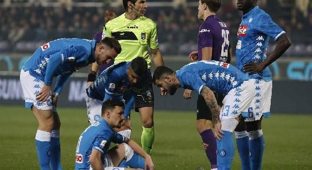 SSC Napoli, il report da Castel Volturno: problema muscolare per Mario Rui, domani si sottoporrà ad esami specifici