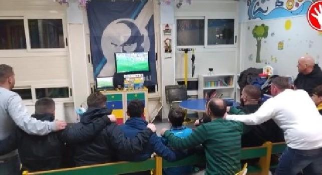 Un gruppo della Curva B fa visita al piccolo Ernesto in Pediatria al Policlinico: cori e incitamento da stadio [VIDEO]