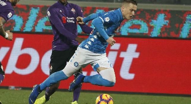 Contro la Fiorentina un Piotr Zielinski inesauribile: il polacco è il calciatore azzurro che corre di più [FOTO]