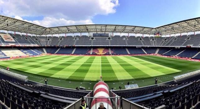 Salisburgo-Napoli 1-1 all'intervallo, qualificazione ipotecata: servirebbero altri 4 goal agli austriaci