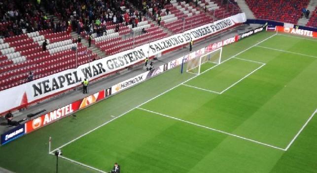 Salisburgo, i tifosi credono nel passaggio e suonano la carica: Napoli era ieri, questa è la nostra fortezza! [FOTO]