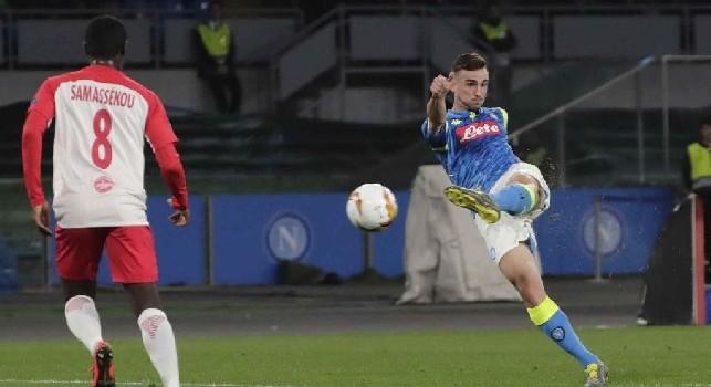 Il palo nega la gioia del gol a Fabian Ruiz: conclusione da distanza siderale