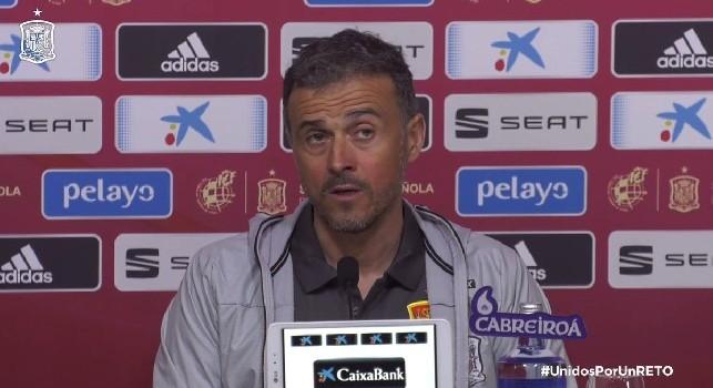 """Spagna, Luis Enrique: Fabián ha avuto il coraggio di partire per l'Italia, sta crescendo col Napoli! Ho voglia di vederlo all'opera con noi"""""""
