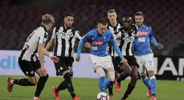 Zielinski con la maglia del Napoli