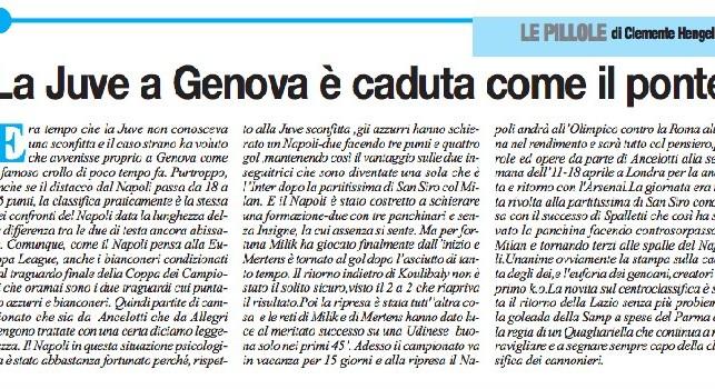 Il Roma corregge il tiro dopo l'articolo sul <i>crollo</i> della Juve a Genova: Scivolone imperdonabile