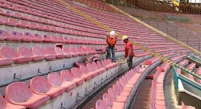 San Paolo, l'amministratore Tipiesse: Sarà uno stadio moderno, stupendo con cinque colori. Pista completata in 10 giorni