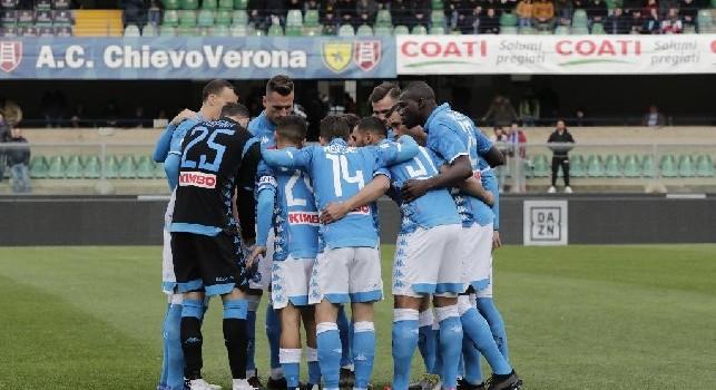 Chievo-Napoli, squadra riunita a inizio gara