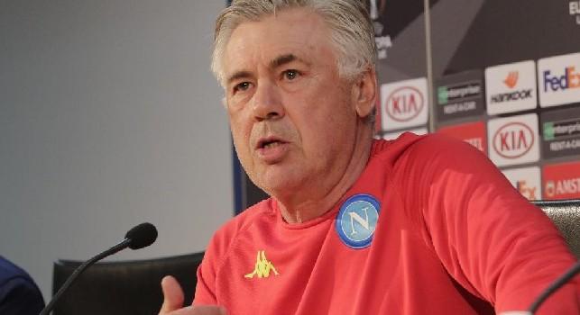 Ancelotti in conferenza stampa, Napoli-Arsenal