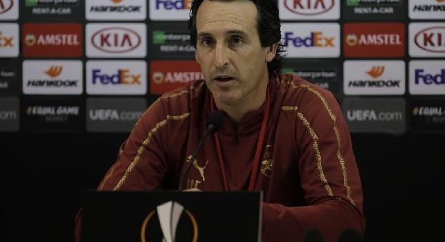 Napoli-Arsenal, conferenza Emery