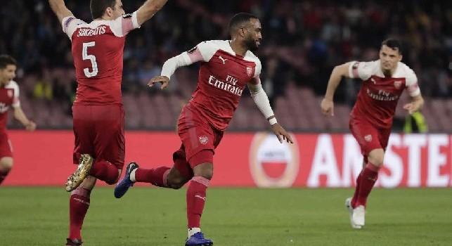 RILEGGI LA DIRETTA - Napoli-Arsenal 0-1 (36' Lacazette): termina la partita! Gli azzurri salutano l'Europa League, i Gunners volano in semifinale