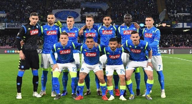 Napoli-Arsenal, squadra schierata. Foto: SSC Napoli