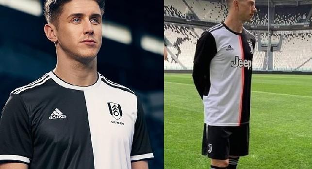 Nuova maglia Juventus molto simile a quella del Fulham, gli inglesi ironizzano: Per sempre nella nostra ombra