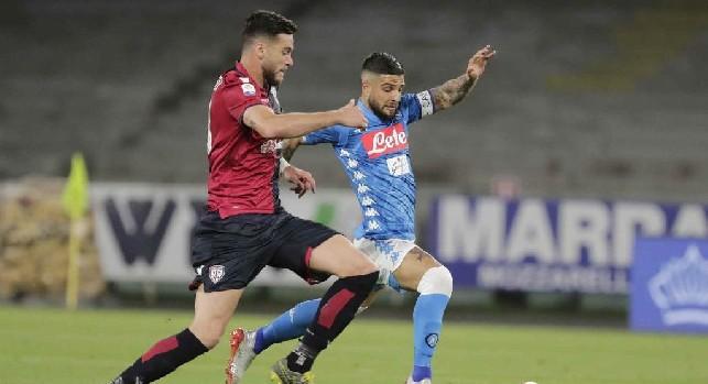 Pagelle Napoli-Cagliari: Insigne <i>si riabilita</i>, Mertens <i>svetta</i>! Younes <i>fumoso</i>, Zielinski <i>con personalità</i>
