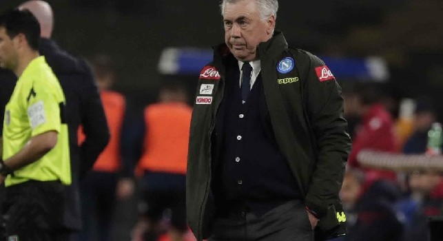 Napoli-Inter, Carlo Ancelotti in panchina