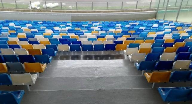 Stadio San Paolo, nuovi sediolini