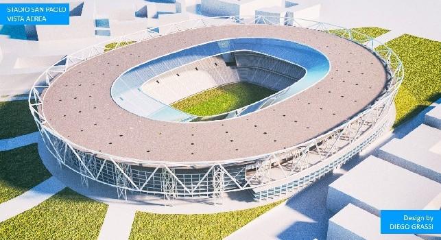 Restyling San Paolo, la proposta dell'architetto Grassi: demolizione Curve e primo anello [FOTOGALLERY]
