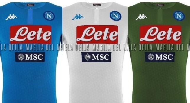 Napoli, indiscrezioni sulle divise della prossima stagione: addio alla pantera, la terza divisa verde militare [FOTO]