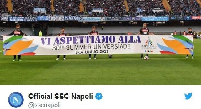 La SSC Napoli promuove le Universiadi: Venite in Campania a conoscere il mondo attraverso lo sport [FOTO]