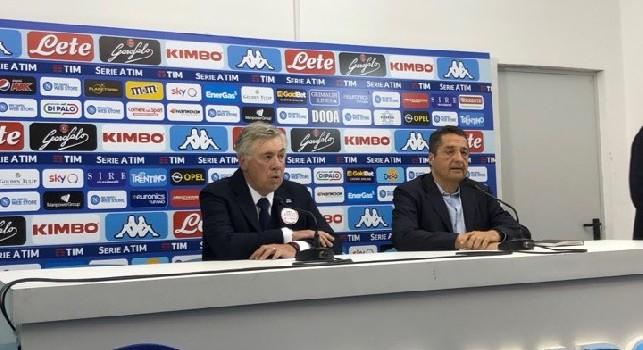 Ancelotti in conferenza: Io alla Juve? Sto al Napoli e ne resto fuori! Di mercato parlerò con ADL. Questa prestazione fa capire cosa sarà il Napoli del prossimo anno [VIDEO CN24]