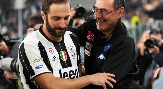 Sky - Higuain può restare alla Juve: Sarri lo sta coinvolgendo in ritiro