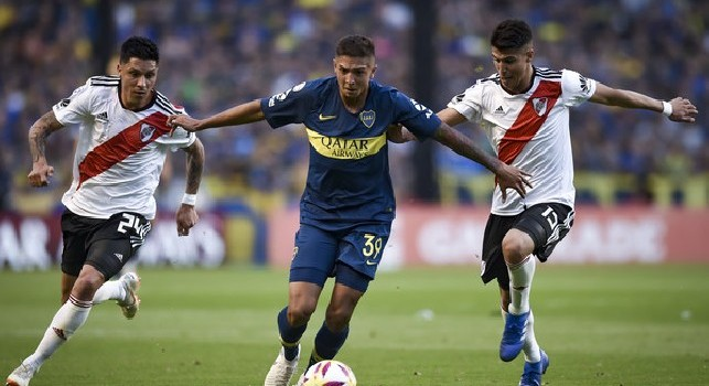 Agustin Almendra, centrocampista del Boca Juniors