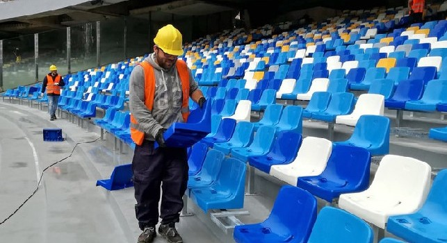 I lavori allo stadio San Paolo