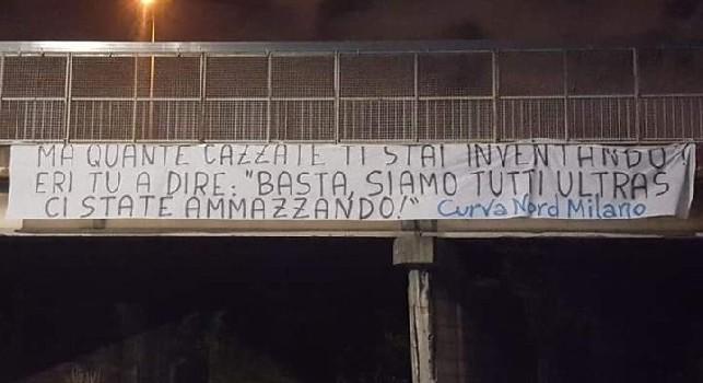 Napoletano carogna, anche Ciro Esposito si sarebbe vergognato. Risposta ultras Inter, Milano invasa dagli striscioni [FOTOGALLERY]