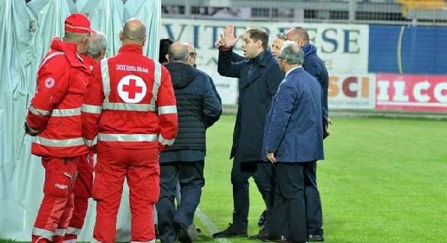 Serie C, clamoroso: patron della Viterbese aggredisce il presidente dell'Arezzo, squalifica esemplare per lui
