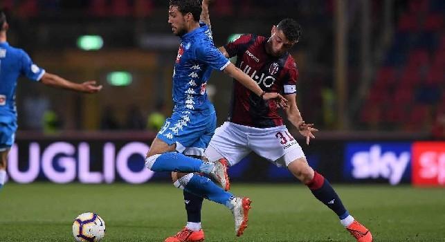 Simone Verdi con la maglia del Napoli