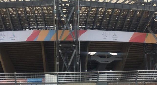 Lo stadio San Paolo cambia volto: lavori anche all'esterno dell'impianto [FOTO]