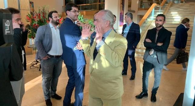 Terminata l'Assemblea dell'ECA a Malta: all'uscita presente anche il presidente Aurelio De Laurentiis [FOTO]