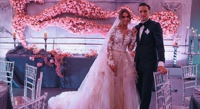 Matrimonio Zielinski, la moglie emoziona tutti con una foto su Instagram: Il giorno più bello della nostra vita [FOTO]