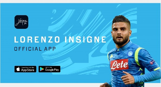 Il Napoli lancia l'app ufficiale di Lorenzo Insigne: ecco tutti i dettagli