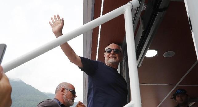 Genk-Napoli, Repubblica: in dubbio la presenza di De Laurentiis