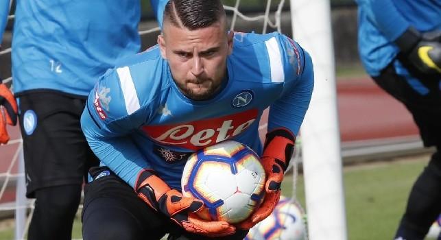 Nikita Contini, portiere della SSC Napoli - Foto di Ciro De Luca