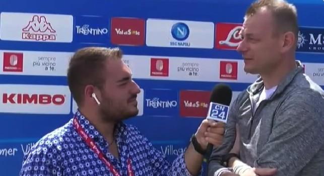 Bogdan Zajac a CalcioNapoli24TV a Dimaro