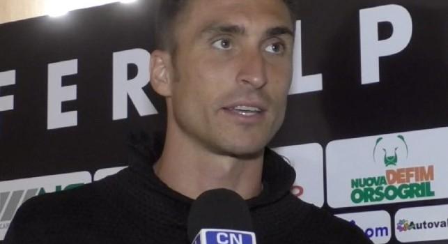 Andrea Caracciolo, attaccante del Feralpisalò, a Calcio Napoli 24 TV