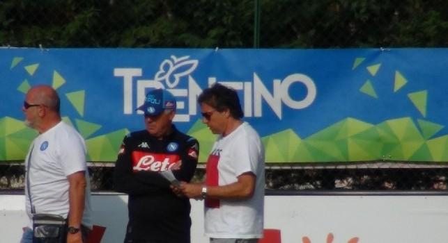 Carlo Ancelotti e Cristiano Giuntoli