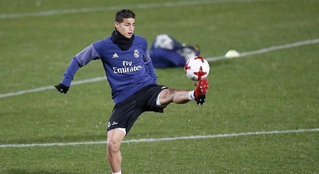 <i>As</i> - Real Madrid, caso James: il colombiano non si allena dal 21 ottobre, ma in nazionale lo fa!