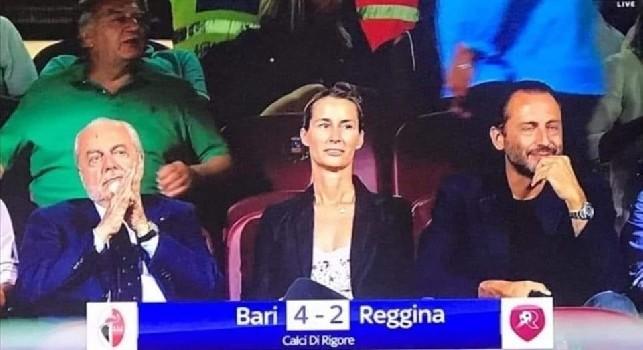 De Laurentiis a Salerno per vedere il Bari nel triangolare contro Reggina e Salernitana [FOTO]