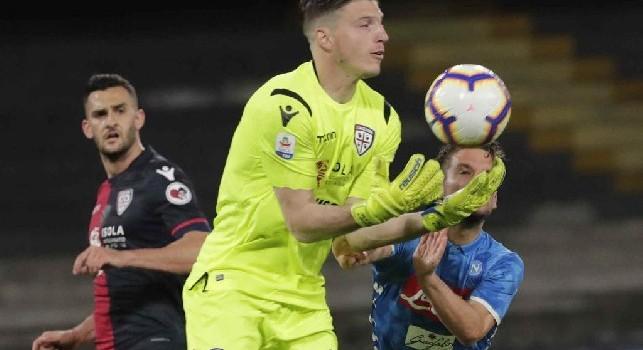 Cagliari, tampone negativo per Cragno! Il portiere non sarà in campo col Napoli, le ultime sulle scelte di Semplici