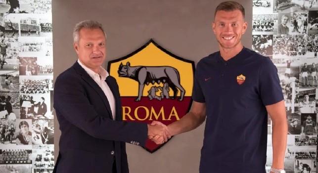 Dzeko rinnova: Roma è casa mia, qui c'è tutto per vincere: felice di rimanere a lungo