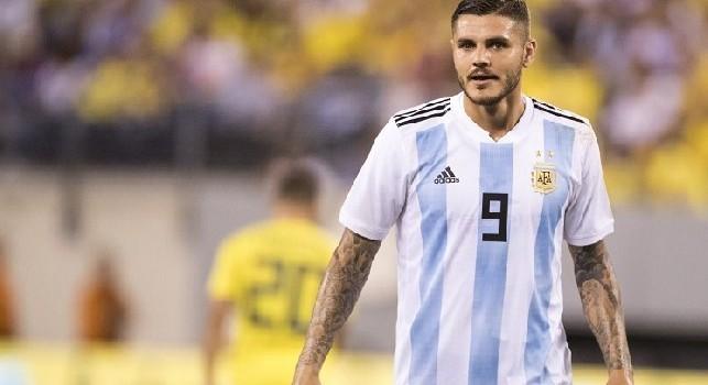 Icardi con l'Argentina