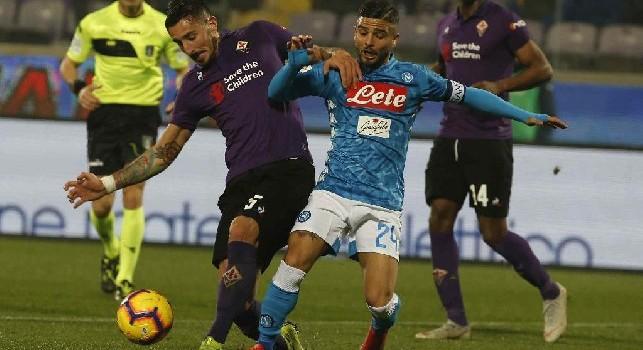 Fiorentina-Napoli, i precedenti: gli azzurri alla caccia del 16esimo successo a Firenze