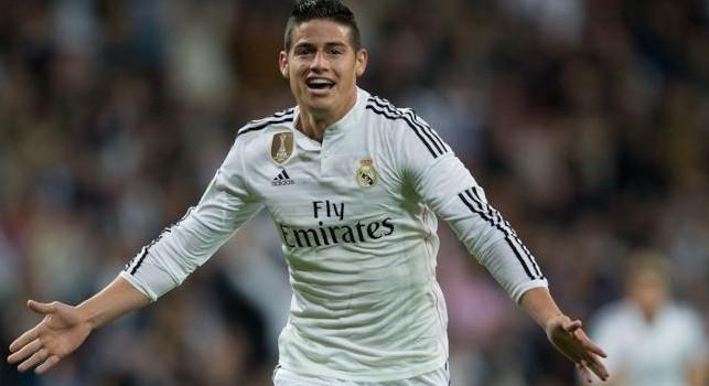 James Rodríguez, centrocampista o attaccante del Real Madrid e della nazionale colombiana