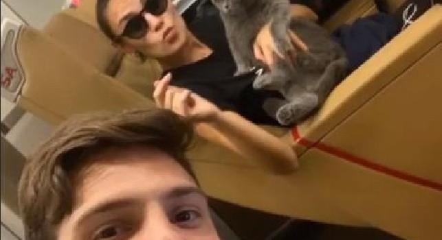 Verdi e la ragazza in viaggio verso Torino con la loro gattina: E' nata a Scampia, ma è pronta per l'avventura al nord [FOTO]
