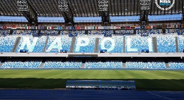 Stadio San Paolo, ecco come apparirà la scritta Napoli sugli spalti [FOTO]