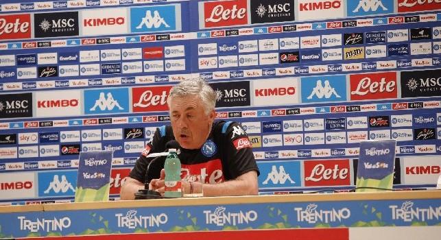 Napoli-Sampdoria, Ancelotti parlerà in conferenza stampa domani alle 12.30