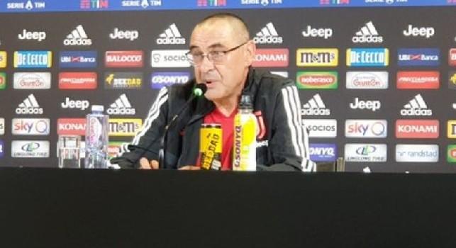 Juventus, Sarri: Se vedere la squadra di Sarri vuol dire vedere il mio Napoli...non la vedrete mai. Giocheremo in modo diverso