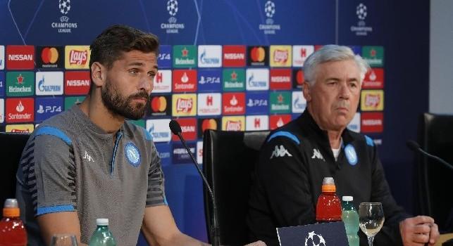 Carlo Ancelotti e Fernando Llorente - Foto di Ciro De Luca